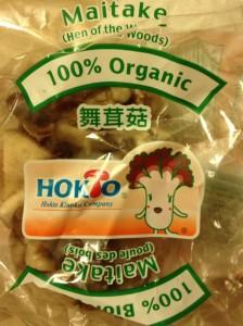 organic Maitake mushrooms