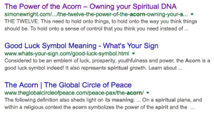 Acorn - Spirituality